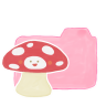 96x96px size png icon of Folder Candy Mushroom