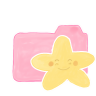 96x96px size png icon of Folder Candy Starry Happy