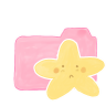 96x96px size png icon of Folder Candy Starry Sad