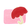 96x96px size png icon of Folder Candy Umbrella