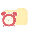96x96px size png icon of Folder Vanilla Clock