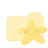 96x96px size png icon of Folder Vanilla Starry Happy