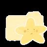 96x96px size png icon of Folder Vanilla Starry Sad