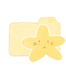 96x96px size png icon of Folder Vanilla Starry