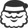 96x96px size png icon of Christmas santa
