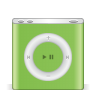 96x96px size png icon of ipod nano green