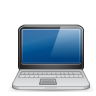 96x96px size png icon of macbook black