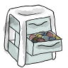 96x96px size png icon of Drawer
