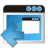 96x96px size png icon of application arrow left