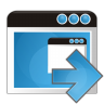 96x96px size png icon of application arrow right