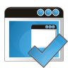 96x96px size png icon of application check
