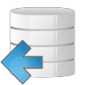 96x96px size png icon of database arrow left