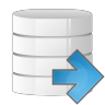 96x96px size png icon of database arrow right