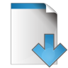96x96px size png icon of document arrow down