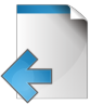 96x96px size png icon of document arrow left
