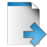 96x96px size png icon of document arrow right