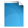 96x96px size png icon of document blue