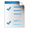 96x96px size png icon of document checkbox