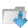 96x96px size png icon of folder arrow down