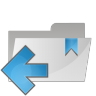 96x96px size png icon of folder arrow left