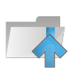 96x96px size png icon of folder arrow up