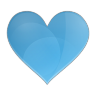96x96px size png icon of love heart