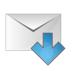 96x96px size png icon of mail arrow down