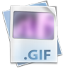 96x96px size png icon of Filetype gif