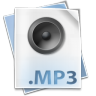 96x96px size png icon of Filetype mp 3