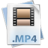 96x96px size png icon of Filetype mp 4