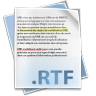 96x96px size png icon of Filetype rtf