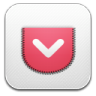 96x96px size png icon of Pocket alt 2