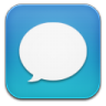 96x96px size png icon of message blue