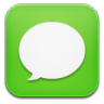 96x96px size png icon of message green
