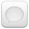 96x96px size png icon of message white