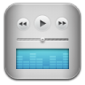 96x96px size png icon of music itunes blue