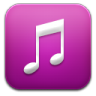 96x96px size png icon of music purple