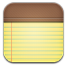 96x96px size png icon of notepad