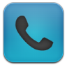 96x96px size png icon of phone blue black