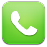96x96px size png icon of phone green