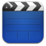 96x96px size png icon of videos blue