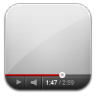 96x96px size png icon of youtube white