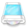 96x96px size png icon of drive blue disk