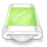 96x96px size png icon of drive green disk