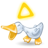 96x96px size png icon of duck quack