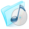 96x96px size png icon of folder blue musique