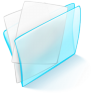 96x96px size png icon of folder blue paper