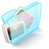 96x96px size png icon of folder blue pictures