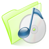 96x96px size png icon of folder green music