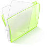 96x96px size png icon of folder green paper